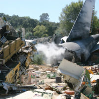 The big plane crash in field