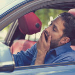 Man driving drowsy